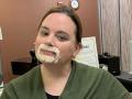 Liz Grimes Mustache
